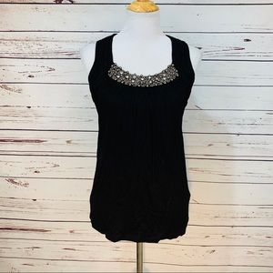 {CABLE & GAUGE} Black Beaded Tank